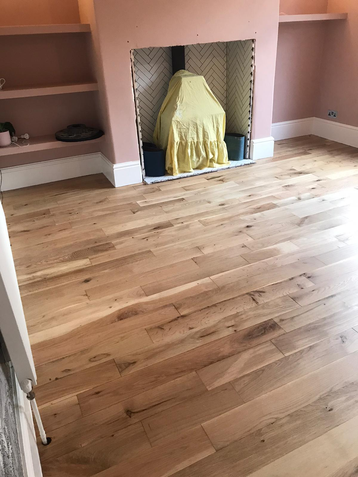 Oak floor sanded and lacquered