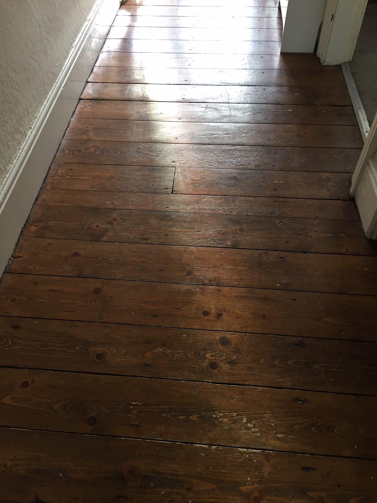 Pine hallway before